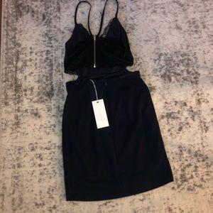Lulus Navy black lace dress